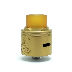 Authentic Coppervape Hippo 316SS 24mm RDA Rebuildable Dripping Atomizer w/ BF Pin - Gold