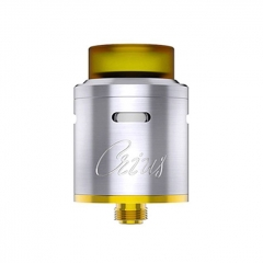 Authentic OBS Crius 24mm RDA Rebuildable Dripping Atomizer w/ BF Pin - Silver