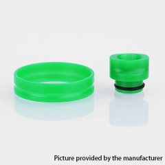 (Ships from Germany)510 POM Replacement Drip Tip + Adapter Ring Kit for RDA / RTA / Sub Ohm Tank  - Green