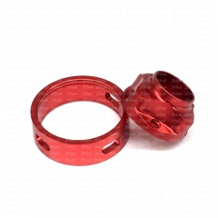 (Ships from Germany)Ulton Replacement Top Cap and Airhole Ring for SQ Emotion Atomizer - Red