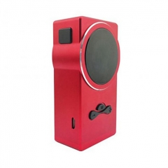 Authentic Hugo Vapor Delux 220W TC VW Variable Wattage Box Mod - Red