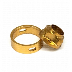 (Ships from Germany)Ulton Replacement Top Cap and Airhole Ring for SQ Emotion Atomizer - Gold