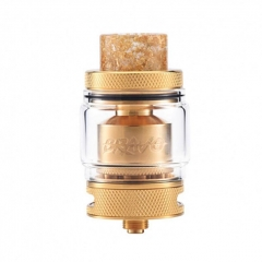 Authentic Wotofo Bravo 25mm RTA Rebuildable Tank Atomizer 6ml - Gold