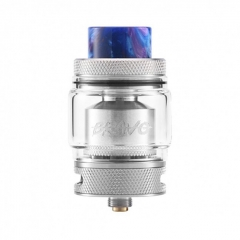 Authentic Wotofo Bravo 25mm RTA Rebuildable Tank Atomizer 6ml - Silver