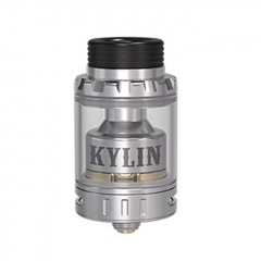 Authentic Vandy Vape Kylin Mini 24.4mm RTA Rebuildable Tank Atomizer 5ml - Silver