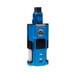 Authentic Sigelei Snowwolf Vfeng Squonk 120W 18650 / 20700 / 21700 TC VW Box Mod + BF RDA Kit - Blue