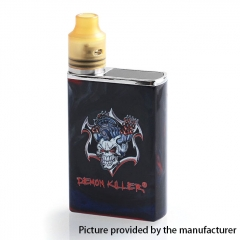 Authentic Demon Killer Tiny 800mAh Mod + 14mm RDA Kit - Black Resin
