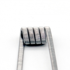 Authentic Coilology Pre-Built Coil Framed Staple Ni80 3mm (0.2ohm) 10pcs  - Silver