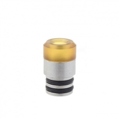 Replacement PEI + Stainless Steel Hybrid Drip Tip for Prime Atomizer 2pcs - Silver