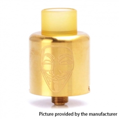 Authentic Timesvape Mask 22mm RDA Rebuildable Dripping Atomizer w/ BF Pin - Gold