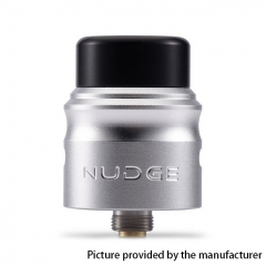Authentic Wotofo Nudge 24mm RDA Rebuildable Dripping Atomizer w/ BF Pin - Silver