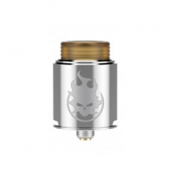 Phobia Style 24mm RDA Rebuildable Dripping Atomizer w/ BF Pin - Silver