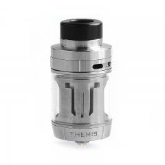 Authentic Digiflavor Themis 27mm RTA Rebuildable Tank Atomizer Dual Coil Version 5ml - Silver