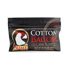Authentic Wick 'N' Vape Cotton Bacon Prime for E-Cigarettes
