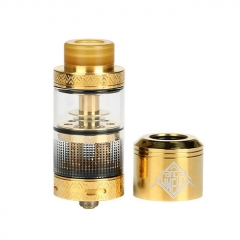 Authentic Uwell Fancier RTA/RDA Rebuildable Tank/Dripping Atomizer 4ml - Gold