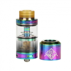 Authentic Uwell Fancier RTA/RDA Rebuildable Tank/Dripping Atomizer 4ml - Rainbow