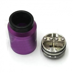 Goon 1.5 Style 22mm RDA Rebuildable Dripping Atomizer w/ BF Pin - Purple
