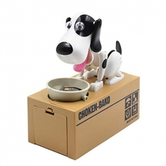 Choken Bako Bank Coin Bank Piggy Bank Robot Dog Toys Novelty Dog ABS 1 Pieces - Black White