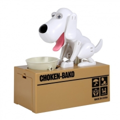 Choken Bako Bank Coin Bank Piggy Bank Robot Dog Toys Novelty Dog ABS 1 Pieces - White