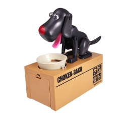 Choken Bako Bank Coin Bank Piggy Bank Robot Dog Toys Novelty Dog ABS 1 Pieces - Black