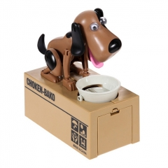 Choken Bako Bank Coin Bank Piggy Bank Robot Dog Toys Novelty Dog ABS 1 Pieces - Brown Black