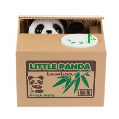Money Bank Stealing Coin Bank Saving Money Box Case Piggy Bank Toys Cute Electric Square Panda