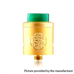 Authentic Hellvape Aequitas 24mm RDA Rebuildable Dripping Atomizer w/ BF Pin - Gold