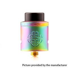 Authentic Hellvape Aequitas 24mm RDA Rebuildable Dripping Atomizer w/ BF Pin - Rainbow
