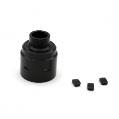 ULTON Replacement Hadeon Cap (Drip Tip Installed) + Plugs for Entheon RDA - Black
