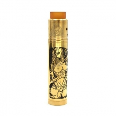 Tower Mods Desolator Z Style 18650 Hybrid Mechanical Mod 25mm + Axis Style RDA Kit - Gold