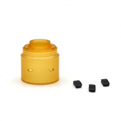 ULTON Replacement Hadeon PEI Cap (Drip Tip Installed) + Plugs for Entheon RDA - Yellow