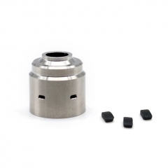 ULTON Replacement Hadeon Cap (Drip Tip Installed) + Plugs for Entheon RDA - Silver