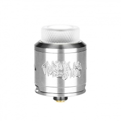 Authentic DEJAVU 25mm RDA Rebuildable Dripping Atomizer w/ Bottom Feeding Pin - Silver