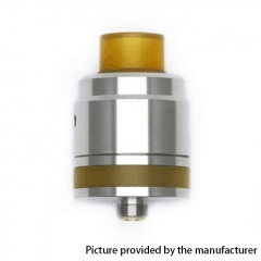 Kindbright Flave 24mm Style 316SS RTA Rebuildable Tank Atomizer w/ BF Pin - Silver