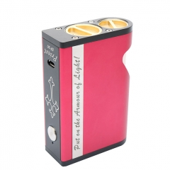 Authentic Marvec Priest BF 90W 18650/20700/21700 Box Mod w/8ml Bottle - Red
