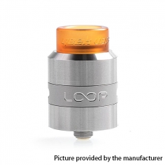 Authentic Loop 24mm RDA Rebuildable Dripping Atomizer w/ BF Pin - Silver