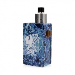 Hadari Style BF Squonk Mechanical Box Mod w/ 5.0ml Bottle Kit - Blue