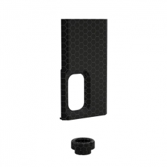 Authentic Wismec Replacement Cover Panel + 810 Drip Tip Kit for Luxotic Squonk Box Mod - Black Honeycomb