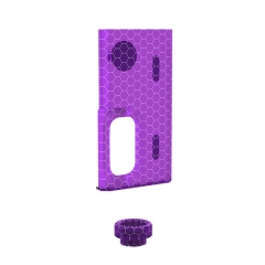 Authentic Wismec Replacement Cover Panel + 810 Drip Tip Kit for Luxotic Squonk Box Mod - Purple Honeycomb