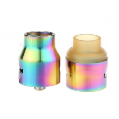 The U.S.1 V2 Style 24mm RDA Rebuildable Dripping Atomizer w/ Extra PEI Top Cap - Brass