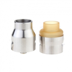 The U.S.1 V2 Style 24mm RDA Rebuildable Dripping Atomizer w/ Extra PEI Top Cap - Silver