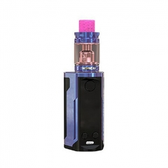 Authentic Wismec Reuleaux RX GEN3 Dual 230W TC VW Box Mod + GNOME King Tank w/GNOME King Tank 5.8ml Kit - Gloss Purple Blue