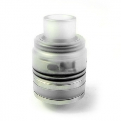 Kindbright Flave 24mm Style 316SS RTA Rebuildable Tank Atomizer w/ BF Pin - Translucent