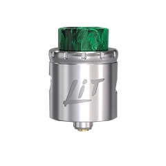Authentic Vandy Vape Lit 24mm RDA Rebuildable Dripping Atomizer w/ BF Pin - Silver