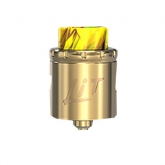 Authentic Vandy Vape Lit 24mm RDA Rebuildable Dripping Atomizer w/ BF Pin - Gold
