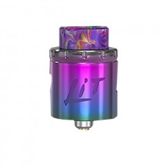 Authentic Vandy Vape Lit 24mm RDA Rebuildable Dripping Atomizer w/ BF Pin - Rainbow