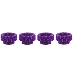 Authentic Wismec Replacement 810 Resin Drip Tip for Tobhino BF RDA / Luxotic BF Kit 11.5mm (4pcs) - Purple Honeycomb