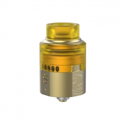 Authentic Vapefly Wormhole 24mm RDA Rebuildable Dripping Atomizer w/ BF Pin - Yellow