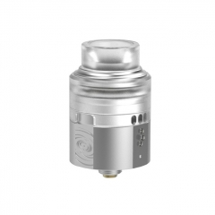 Authentic Vapefly Wormhole 24mm RDA Rebuildable Dripping Atomizer w/ BF Pin - Silver