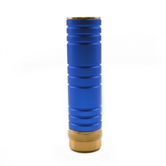 ULTON KMKAMO Style 18650 23mm Hybrid Mechanical Mod w/Extra 22mm/24mm Hybrid Connector - Blue